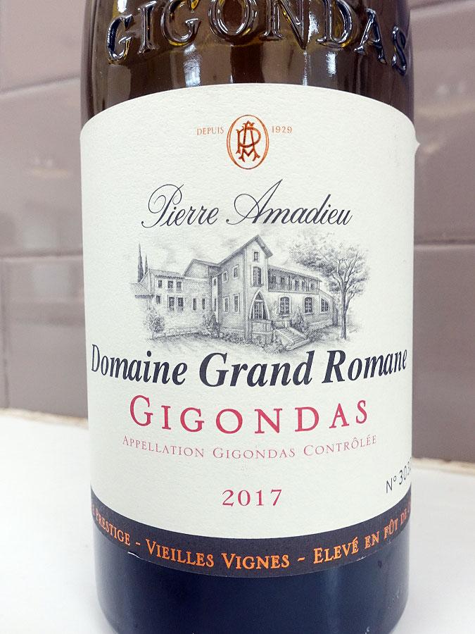 Pierre Amadieu Domaine Grand Romane Cuvée Prestige Vieilles Vignes Gigondas 2017 (92 pts)