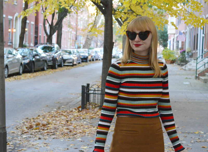 Striped Turtleneck | Organized Mess