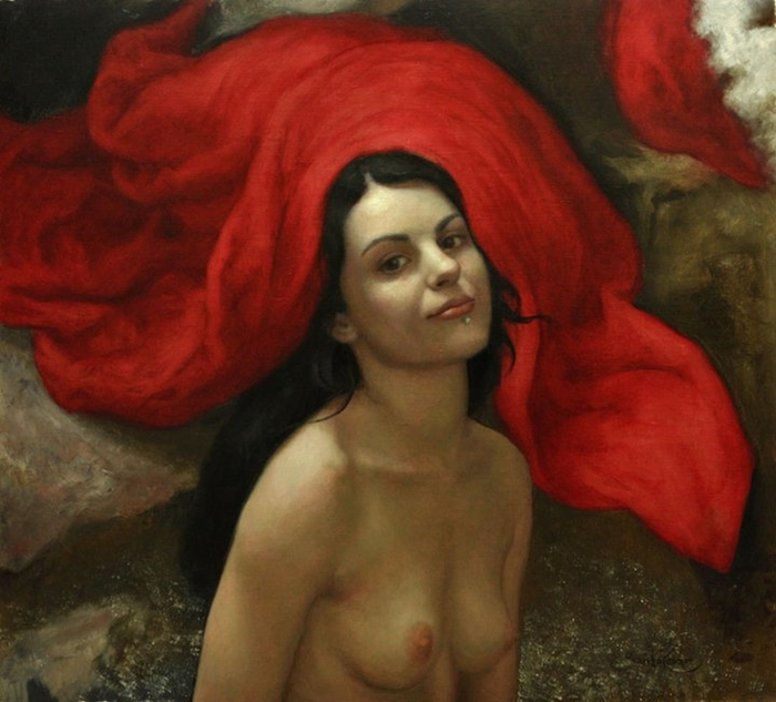 Cesar Santos 1982 | Cuban-born American Figurative painter | Nude Portrait