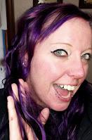 Arctic Fox purple rain mix poisedion blue long curly hair