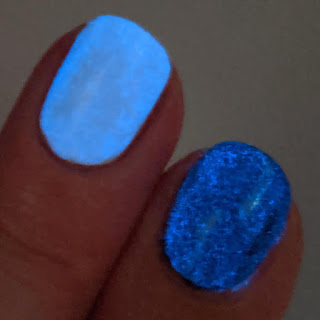 blue glow in the dark nail polish topper
