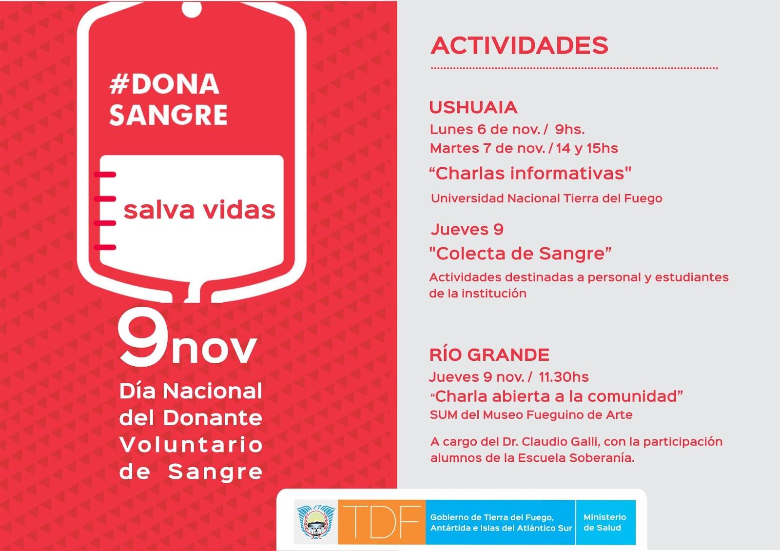 Día Nacional del Donante de Sangre: habrá colectas en el Cabildo Histórico