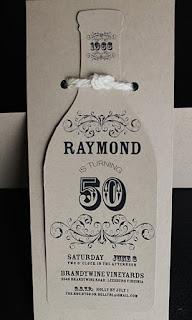 50th Birthday Wine Bottle Invitation