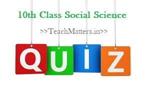 image: 10th Class Social Science Quiz @ TeachMatters