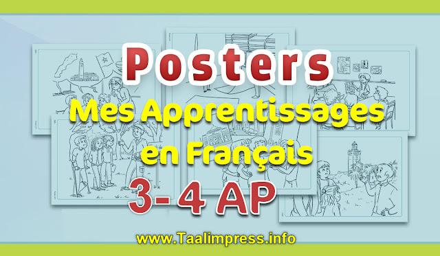 صويرات التعبير الشفوي Posters du guide mes apprentissages en Français 3 et 4AP
