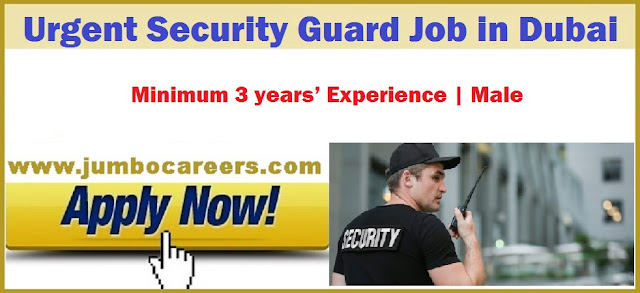 Security Guard Job in Dubai, Dubai Jobs, Security Job at UAE