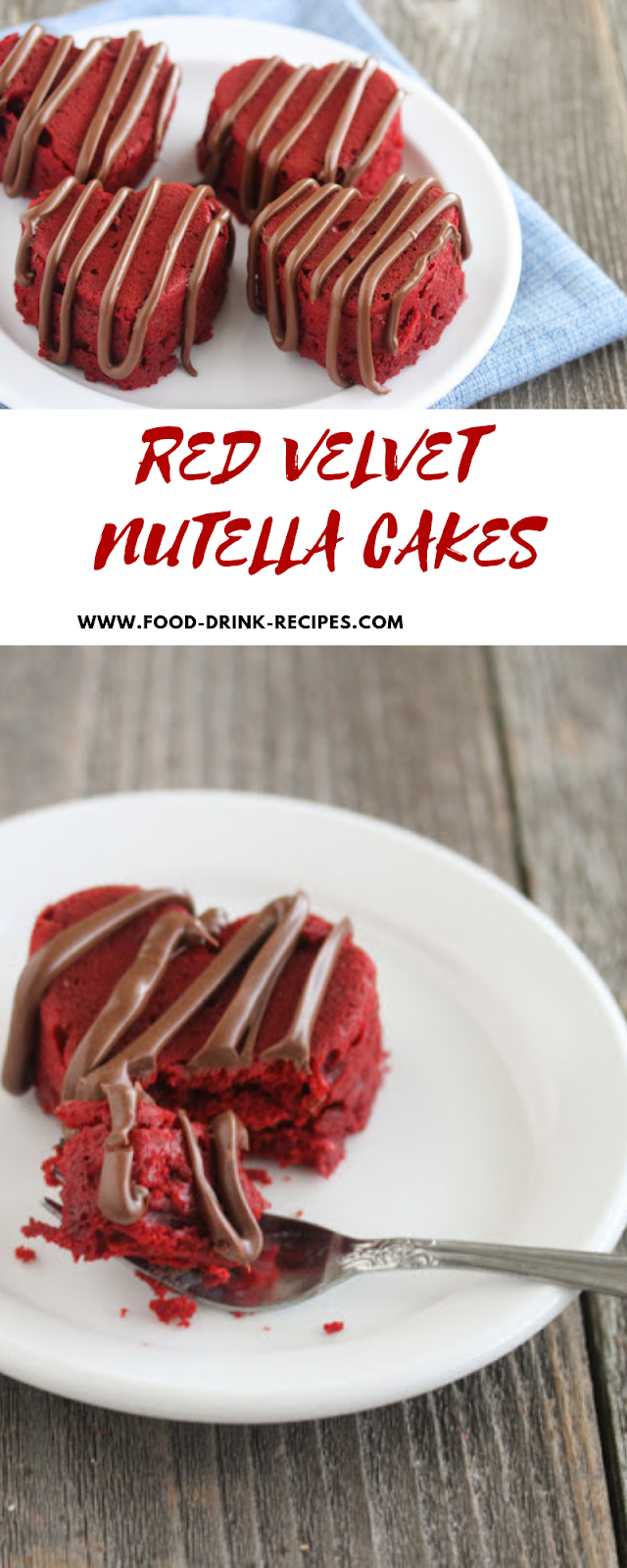 Red Velvet Nutella Cakes