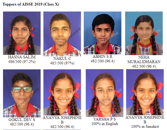 AISSE 2019 (CLASS X) - TOPPERS