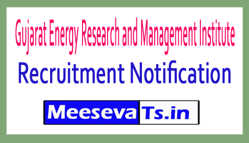 Gujarat Energy Research and Management Institute GERMI Recruitment