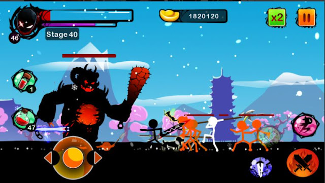 Permainan Aksi Android Offline Stickman Ghost MOD APK