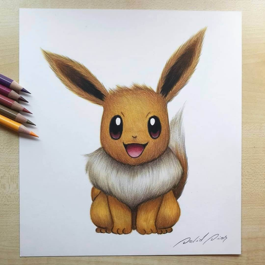08-Pikachu-Pokemon-David-Dias-Drawings-Spanning-Many-different-Subjects-www-designstack-co