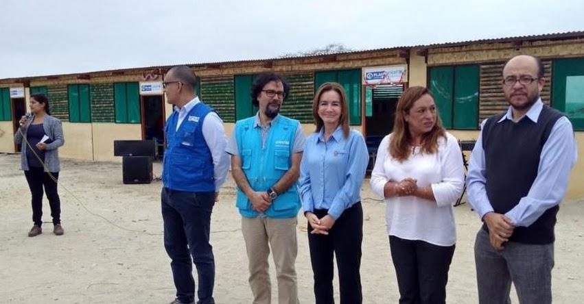 MINEDU: Ministra de Educación inaugura aulas temporales en Piura - www.minedu.gob.pe