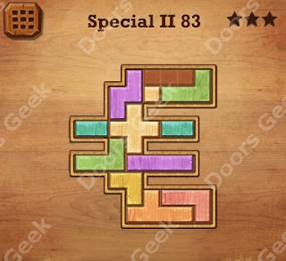 Cheats, Solutions, Walkthrough for Wood Block Puzzle Special II Level 83