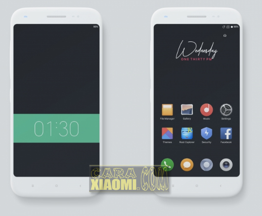Thema MIUI Material Dark Simple Themes For Redmi Themes