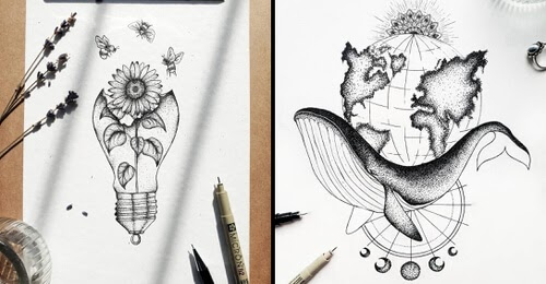 00-Stippling-Drawings-Marina-Tim-www-designstack-co