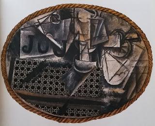 Натюрморт с тростниковым креслом, 1912 Пикассо