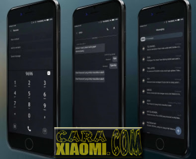 Tema GWAD Simple Dark Mtz For Xiaomi