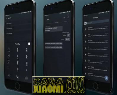 Tema GWAD Simple Dark Mtz For Xiaomi