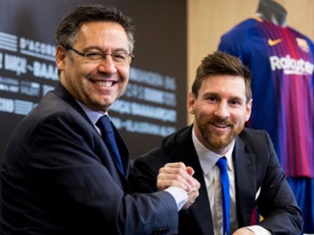 """NÓNG: """"Ông trùm"""" Barca sẵn sàng từ chức vì Messi, ra yêu sách đầy toan tính"""