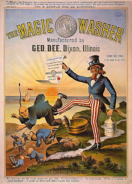 The Magic Washer / The Chinese Must Go, c. 1886 Library of Congress