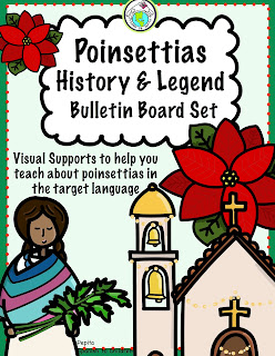 Poinsettia History & Legend Bulletin Board Set