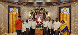मुख्यमंत्री आवास में स्थापित गणपति बप्पा का दर्शन करने पहुंचे गणमान्य   #NayaSaberaNetwork