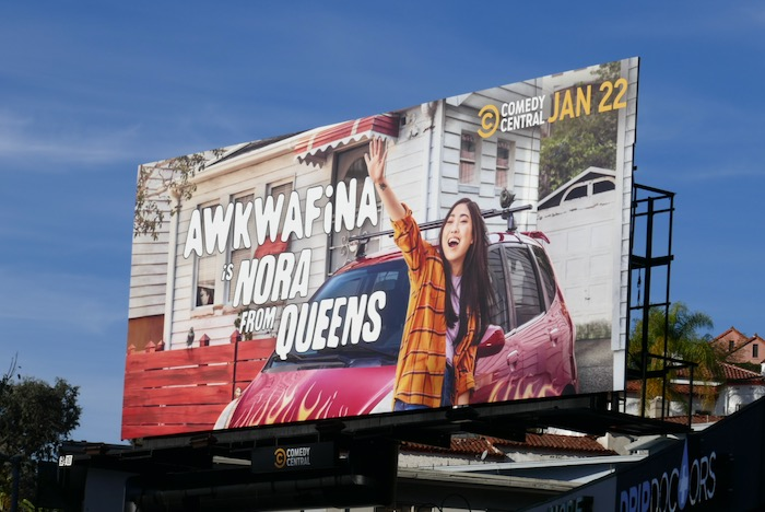 Awkwafina is Nora from Queens season 1 billboard