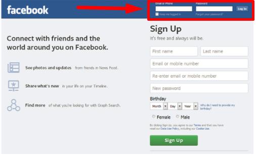 Facebook Com Login Sign Up Or Learn More M