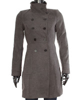 Palton Zara Gray Long Wool Double Buttoned (Z )