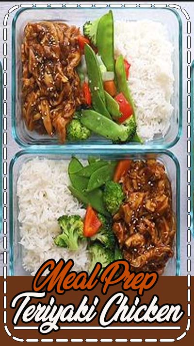 Meal prep the easiest crock pot teriyaki chicken with stir-fried veggies and white rice for a balanced healthy meal all week long.