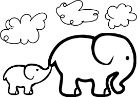 Adorable Elephant Coloring Pages For Kids Ideas