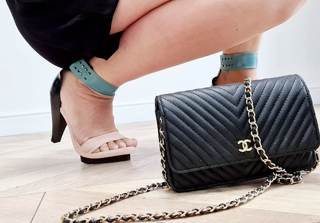 Chanel wallet on chain, melissa x pedro Lourenco rubber heels