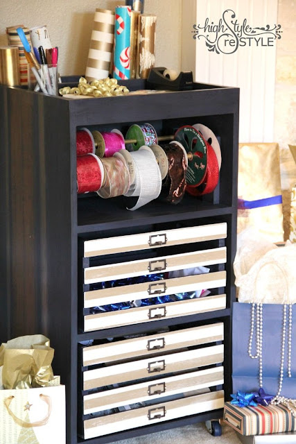 DIY Gift Wrap Cart - High Style Restyle