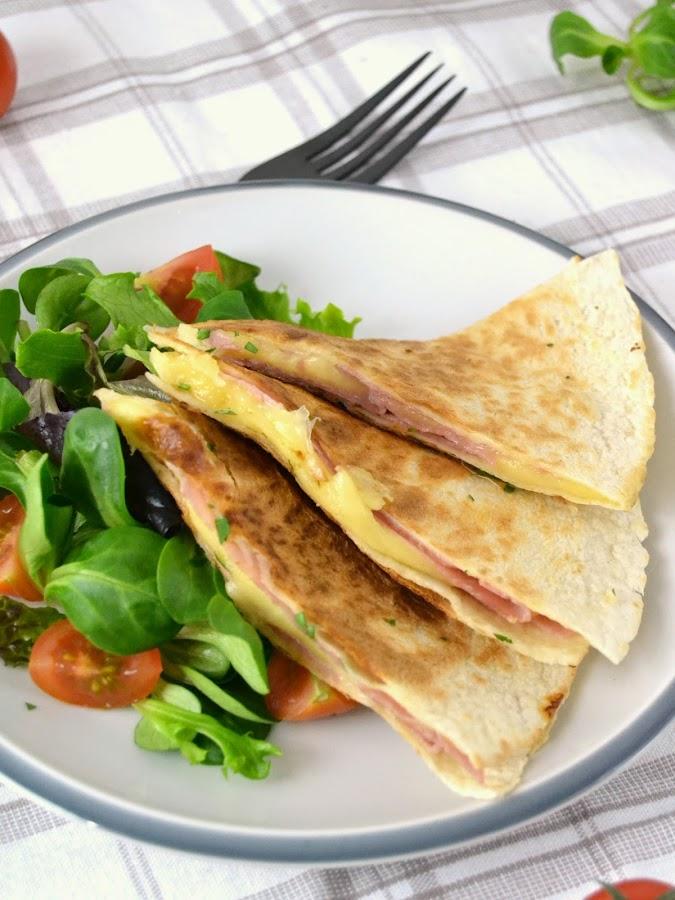 receta Quesadillas o sincronizadas de jamón y queso