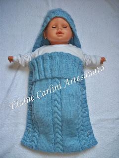 5d87f2a5c62e Elaine Carlini Artesanato: Saco de dormir para bebê