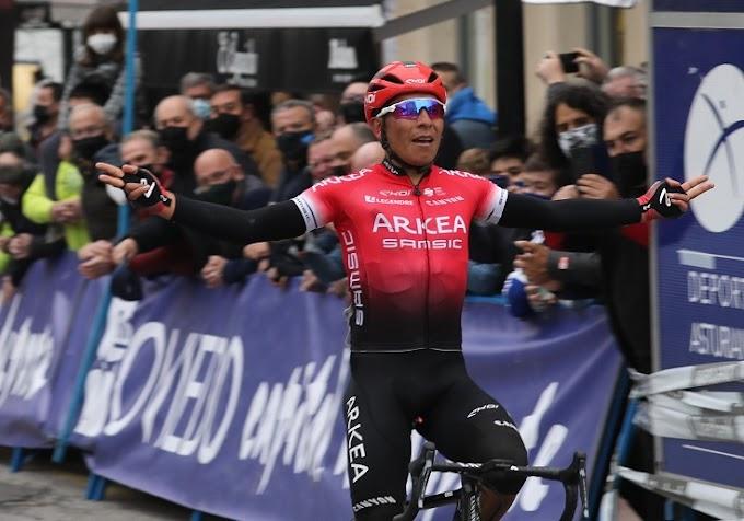 Nairo Quintana ganó la primera etapa de la Vuelta Asturias 2021
