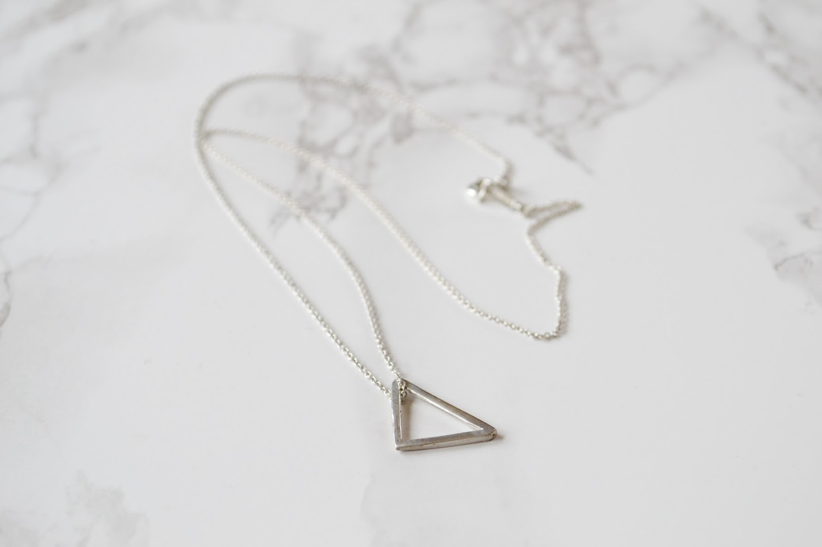 DIY Jewellery // Simple Silver Triangle Necklace // Metal Clay ...
