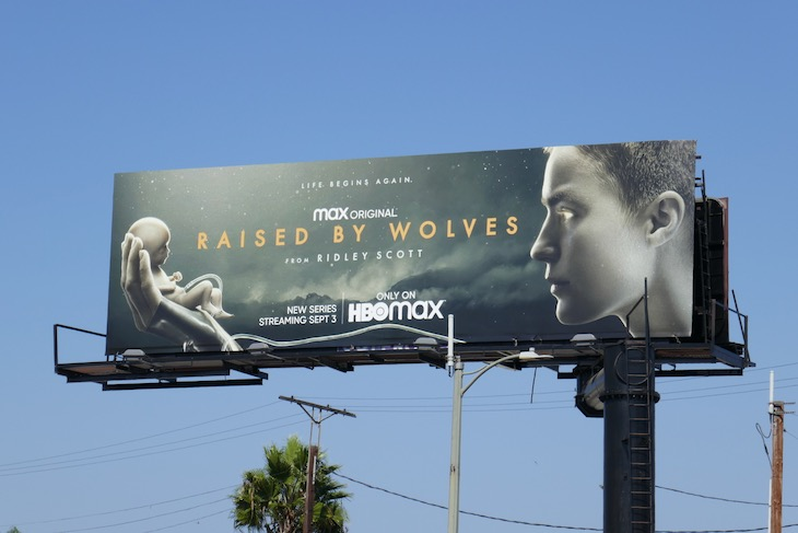 Raised by Wolves HBO Max series billboard