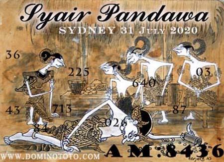 Syair Pandawa Sydney Jumat 31 Juli 2020
