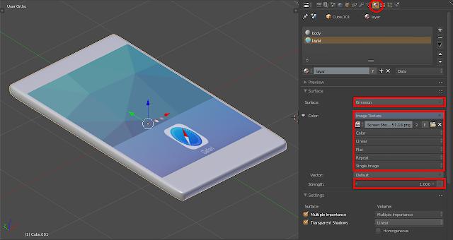 Bagian layar ditambahkan tekstur screenshoot