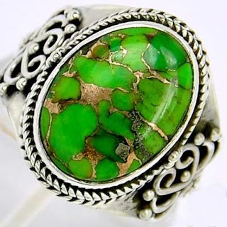 Batu akik pirus hijau