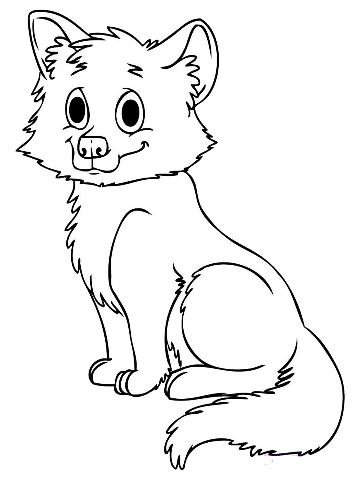 Animal Baby Wolf Printable Kids Coloring Pages RealisticColoringPages