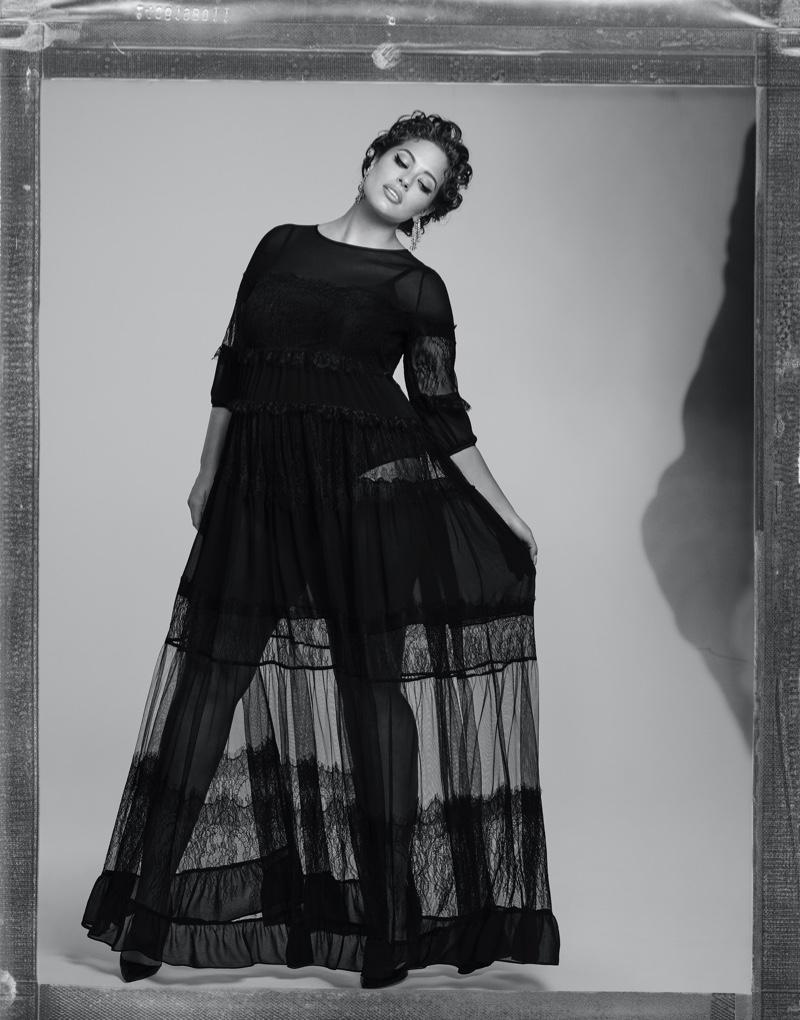 Model Ashley Graham poses for Marina Rinaldi spring-summer 2020 campaign