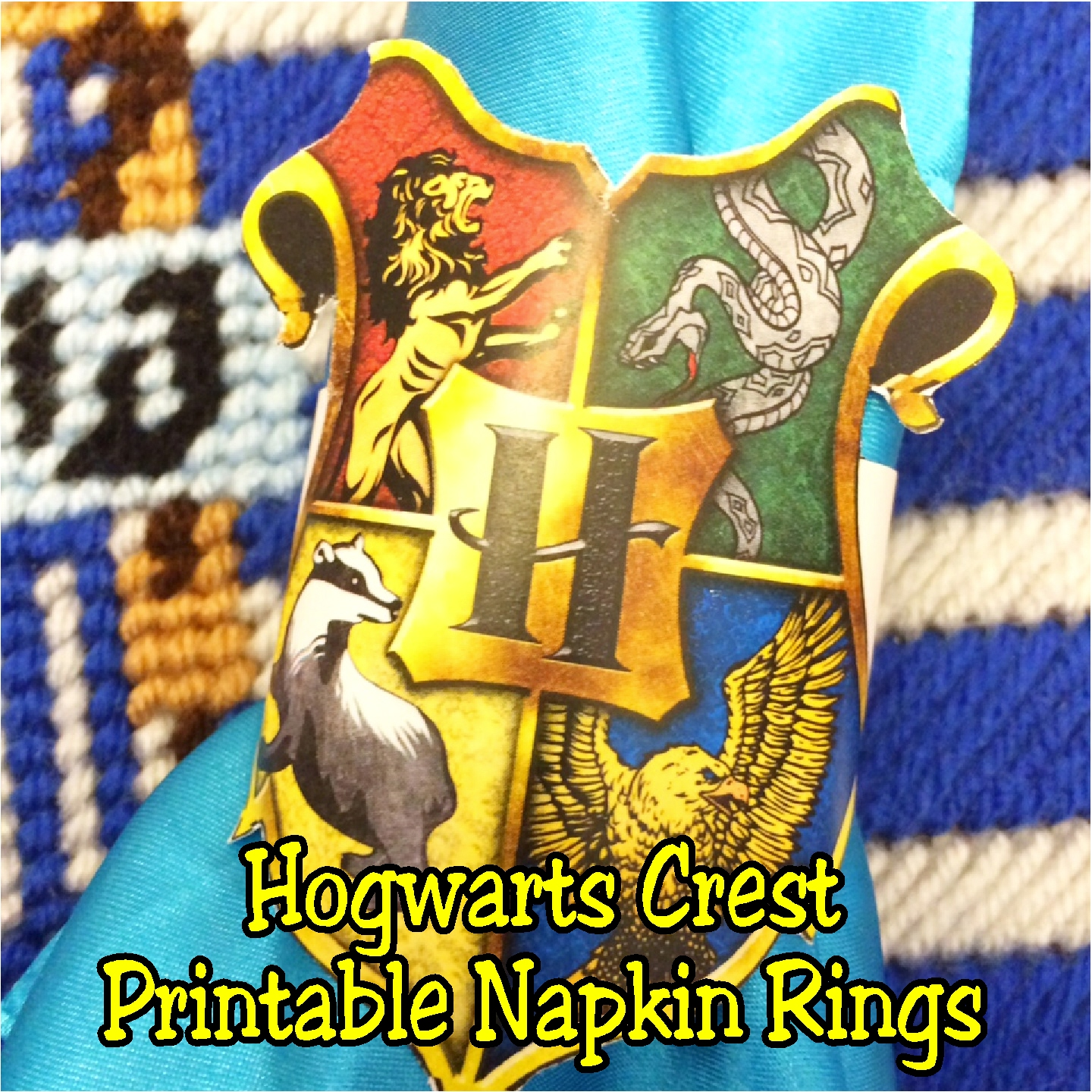 photo about Printable Hogwarts House Crests identify Do it yourself Get together Mother: Hogwarts Crest Napkin Ring Printables
