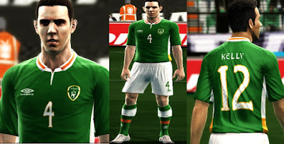 REBUPLIC OF IRELAND 2016 HOME KIT