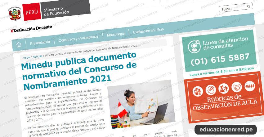 MINEDU anuncia Nombramiento Docente 2021 (R.VM. N° 291-2020-MINEDU)