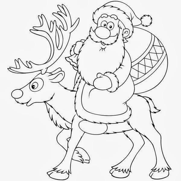 Blog de los niños: Más dibujos de Navidad para colorear