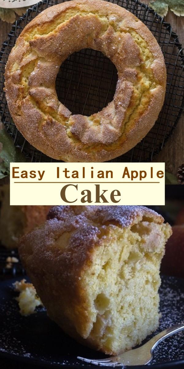 Easy Italian Apple Cake #cakerecipes