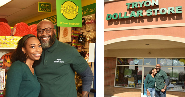 Antonio and Andrea Williams, newlywed couple who own Tryon Dollar Store