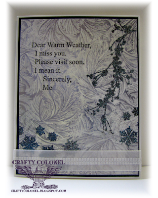 CraftyColonel Donna Nuce for Cards in Envy Winter blog challenge,Club Scrap Shades of Winter